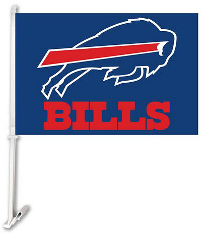 30X45CM Buffalo Bills  window car Flag car decoration With flagpole Free Shipping