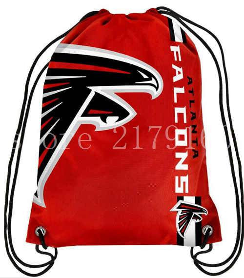 35*45 cm Atlanta Falcons knitted polyester drawstring backpack for outside use