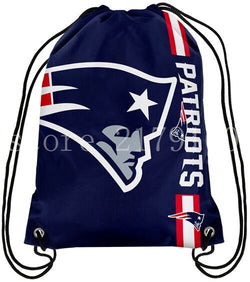 35*45 cm champions team New England Patriots drawstring backpack with grommets