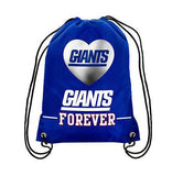 35*45 knitted polyester NY New York Giants Big Logo Side Stripe DrawString Backpack Backsack Bag