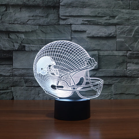 3D led Night Light Cleveland Brown American football team logo on helmet