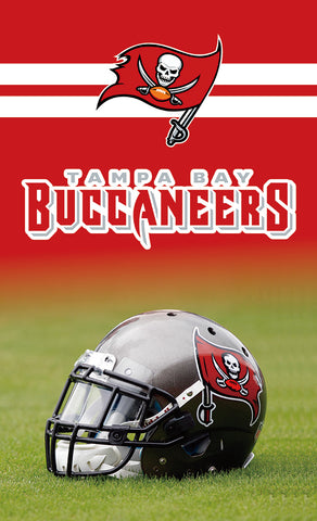 3FTX5FT Tampa Bay Buccaneers helmet flag 100D polyester digital printed with 2 gromments
