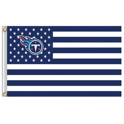 3ft x 5ft Polyester  Tennessee Titans banner, Fly size 150 * 90 cm custom flag