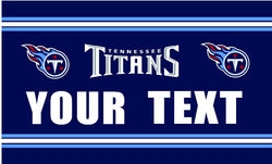 3ft x 5ft Tennessee Titans flag YOUR TEXT banner 100D Digital Printing DIY flag with 2 Metal Grommets