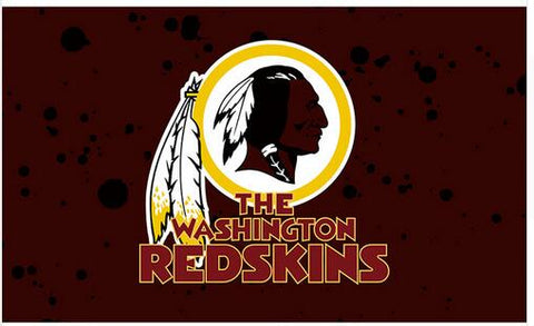 3ft x 5ft Washington Redskins Flag  Polyester Banner 90x150cm white sleeve with 2 Metal Grommets