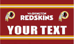 3ft x 5ft Washington Redskins flag YOUR TEXT banner 100D Digital Printing DIY flag