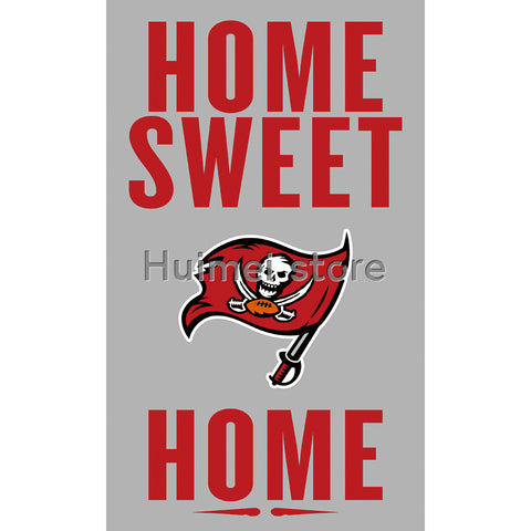 3ftx5ft home sweet home Banner 100D Polyester Flag metal Grommets Tampa Bay Buccaneers flag custom gift flag