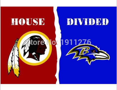 3x5 ft Washington Redskins VS Baltimore Ravens flag 100D polyester digital printed banner 150x90cm with metal Grommets