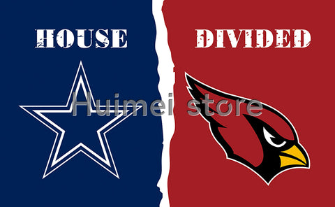 3x5ft Arizona Cardinals VS Dallas Cowboys flag house divided flag 150x90cm 2 metal grommets