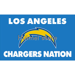 3x5ft Los angeles Chargers flag with CHARGERS NATION designs Metal Grommets San Diego Chargers Flag