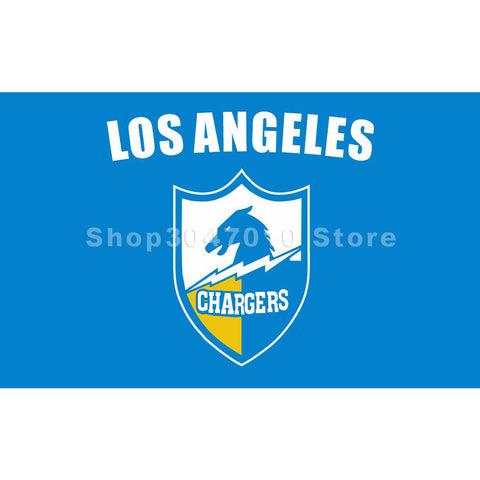 3x5ft Los angeles Chargers flag with blue background Flag