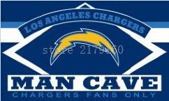3x5ft Los angeles Chargers man cave flag with diamond arch designs Metal Grommets