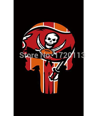 3x5ft Tampa Bay Buccaneers flag 100D Polyester Flag metal Grommets 90x150cm Outdoor flag Tampa Bay Buccaneers flag