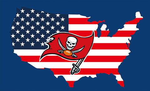 3x5ft Tampa Bay Buccaneers flag 90x150cm Outdoor flag 100D Polyester Flag metal Grommets