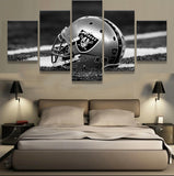 5 P/Set Oakland Raiders Sports Team Fans Oil Painting On Canvas Modern Home Pictures Prints Liveing Room Deco Fans Posters gg166