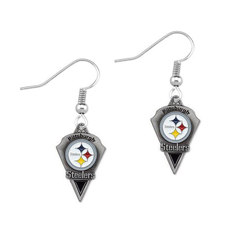 5 Pairs Enamel Alloy Pittsburgh Steelers Earrings Fans Drop Women Jewelry Earring Sets