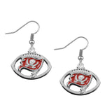 5 Pairs Football Fans Earrings Alloy With Enamel American Football Tampa Bay Buccaneers Charm Drop Earrings