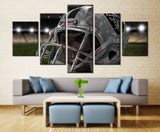 5 Panel Helmet With Oakland Raiders Wall Art Picture Home Decoration Living Room Canvas Print Wall Picture Printing On Canvas