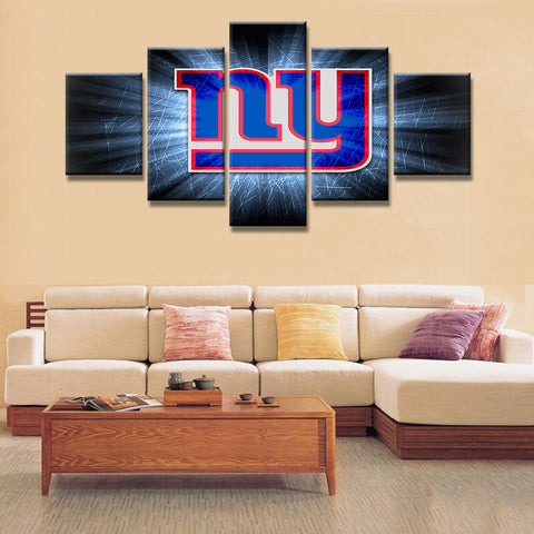 5 Panel New York Giants Painting Canvas Wall Art Frame Modular Picture Home Decor Living Room Canvas Print Modern Painting