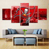 5 Pieces Tampa Bay Buccaneers Modern Home Decorative Pictures For Living Room HD Print Canvas Modular Painting Wall Artworks