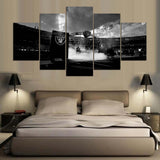 5 Pieces oakland raiders Printed painting Modern Wall Painting Printed On Canvas Room Picture Poster Free shipping W/1354