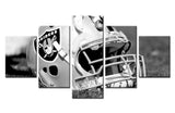 5P Oakland Raiders Wall Art Picture Modern Home Decoration Living Room Or Bedroom Canvas Print Painting Wall Picture Frame gg363