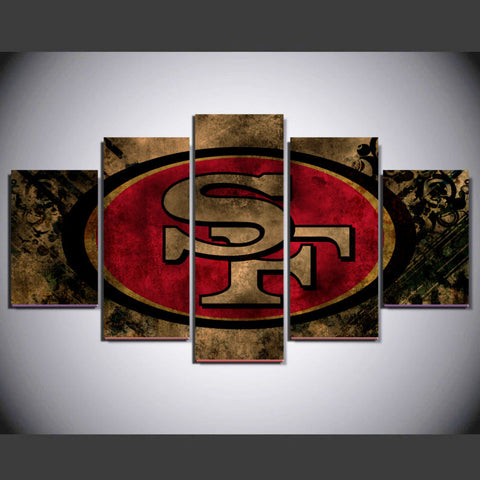 5P San Francisco 49ers Fans Canvas Painting Modern Home Wall Decor Canvas Picture Art HD Print Painting On Canvas Artworks gg373