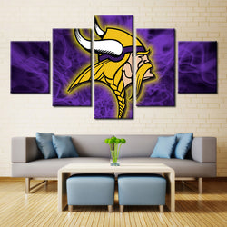 5p Minnesota Vikings NFL Sports Football Print Painting On Canvas Modern Home Pictures Prints Living Room Deco Fans Poster gg270