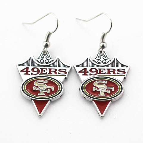 5pair/lot USA Team San Francisco 49ers Earrings charms for Fashion Jewelry Earrings Football Fan Sports Earrings Women Jewelry