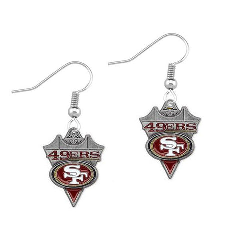 5pairs/Lot Football Fans Earrings Alloy American Football San Francisco 49ers Charm Drop Earrings