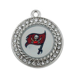 6 Style Alloy Enamel Tampa Bay Buccaneers Football Team Pendant Dangle Charms Fit All Fashion DIY Jewelry
