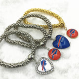 6pcs Football Sports Buffalo Bills Bracelets Elastic Snake Chain Bracelet&Bangles USA Fans Bracelet Jewelry charms