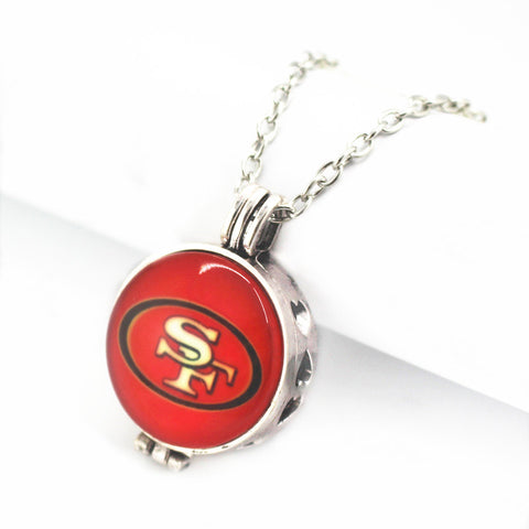 6pcs/lot 27mm San Francisco 49ers Lockets Pendant Seattle Seahawks Football Sports Team for Necklace With (50cm)chain