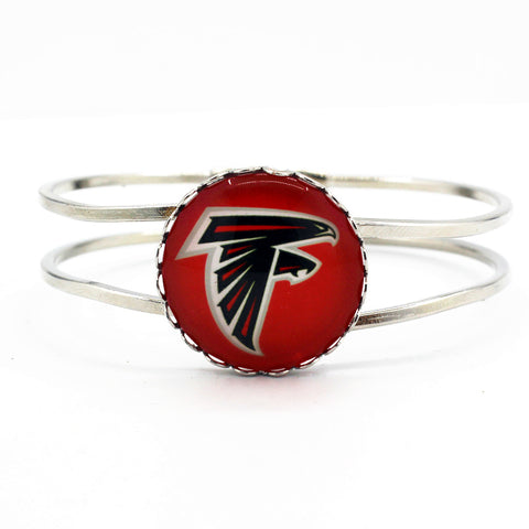 6pcs/lot alloy silver bracelet Atlanta Falcons football team floating charms fashion bracelets jewelry for man woman sports fan