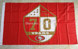 90x150cm  San Francisco 49ers flag 70 years  banner 100D Digital Printing flag  free shipping