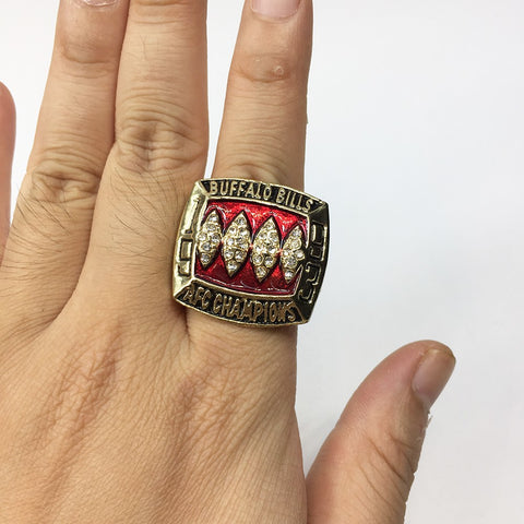 AFC 1993 Buffalo Bills Football Championship Rings Size 11