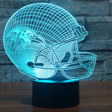 Acrylic light Baseball cap Baltimore Ravens 3D LED night light 7 color change USB table desk Lamp touch sensor as gift IY803655
