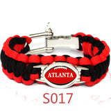 America Atlanta Falcons Football Team Men And Women Bracelet Seven Core Umbrella Braided Bracelet Alloy Buckle