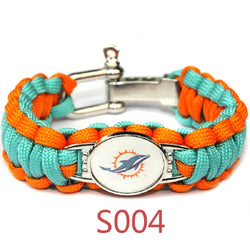 America Miami Dolphins Football Team Men And Women Bracelet Seven Core Umbrella Braided Bracelet Alloy Buckle