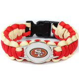 American Football San Francisco 49ers Team Umbrella Jewelry Bracelet Outdoor Escape Survival Charm Bangle