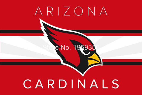 Arizona Cardinals 3ft x 5ft Flag  100D polyester  90x150cm 2 metal grommets 40011