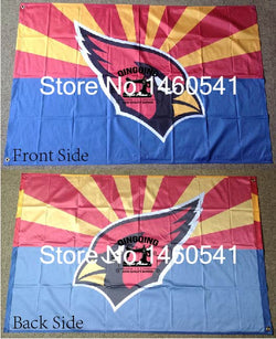 Arizona Cardinals Arizona State Flag 3ft x 5ft Polyester NFL Arizona Cardinals Banner Flying Size No.4 144* 96cm QingQing Flag