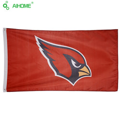Arizona Cardinals Flag With Star And Stripe 3x5 FT Banner 100D Polyester Flag Brass Grommets USA Team Flag