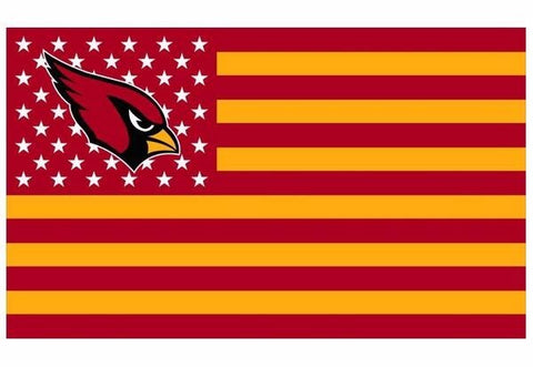 Arizona Cardinals US flag with star and stripe 3x5 FT banner