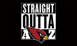 Arizona Cardinals flags 90x150cm polyester banner digital printing 3x5ft STRAIGHT OUTTA