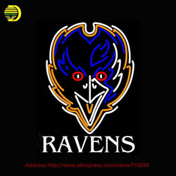 Baltimore Ravens Sound Wave NFL Neon Sign Neon Bulb Glass Tube Handcrafted Sport Lamp Glass Neon Lights Affiche Publicidad 31x24
