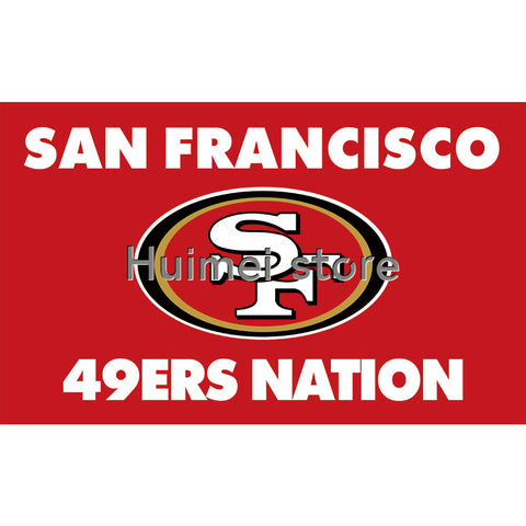 Banner flag San Francisco 49ers Super Bowl Champions 3X5FT 100% Polyester 49ERS NATION