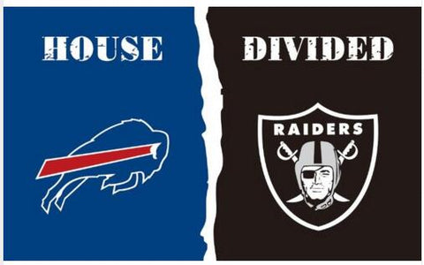 Buffalo Bills VS Oakland Raiders flag 100D polyester digital printed banner 150x90cm