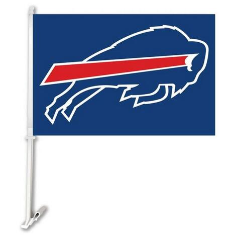 Buffalo Bills car Flag 30x45cm Polyester  Banner with  plastic flag pole