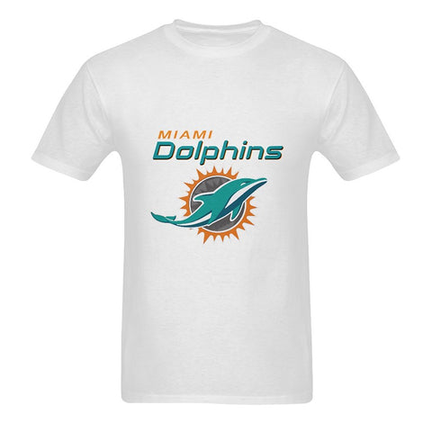 Burrows Custom Dolphins Miami Men's Cotton O-neck T-shirt Short Sleeve Tee White Design T Shirt Men'S High Quality Top Tee